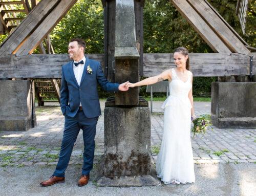 Das erste Mal sehen als Brautpaar
